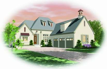 3 Bed, 4 Bath, 3633 Square Foot House Plan - #053-01919