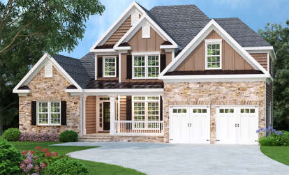 3 Bed, 2 Bath, 2276 Square Foot House Plan - #009-00081