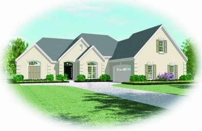 4 Bed, 3 Bath, 3483 Square Foot House Plan - #053-01931