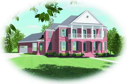 5 Bed, 4 Bath, 4106 Square Foot House Plan - #053-01965