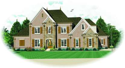 3 Bed, 4 Bath, 3658 Square Foot House Plan - #053-01968