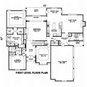 Floorplan 1 for House Plan #053-01977