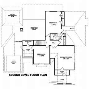 Floorplan 2 for House Plan #053-01977
