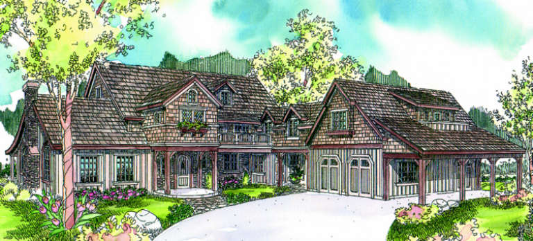 Country House Plan #035-00309 Elevation Photo
