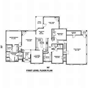 Floorplan 1 for House Plan #053-01988