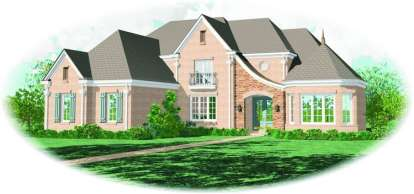 4 Bed, 4 Bath, 4363 Square Foot House Plan - #053-01991
