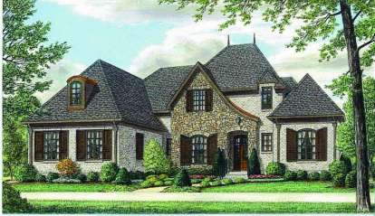 4 Bed, 4 Bath, 4450 Square Foot House Plan - #053-01993