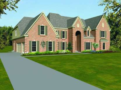 5 Bed, 4 Bath, 5333 Square Foot House Plan - #053-01998