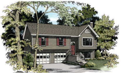 3 Bed, 2 Bath, 1496 Square Foot House Plan #036-00022