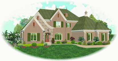 4 Bed, 4 Bath, 4454 Square Foot House Plan - #053-02000