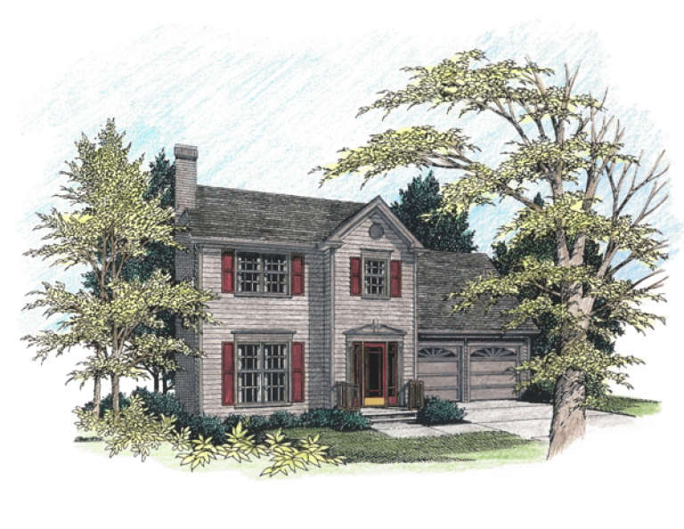 Classical House Plan #036-00025 Elevation Photo