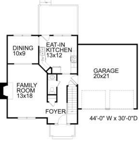 First Floor for House Plan #036-00025