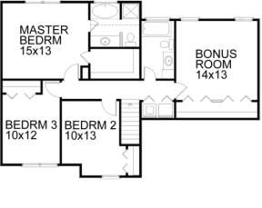 Second Floor for House Plan #036-00025