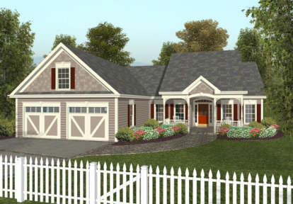 3 Bed, 2 Bath, 1496 Square Foot House Plan #036-00026