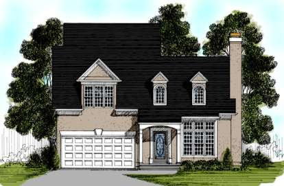 3 Bed, 3 Bath, 1526 Square Foot House Plan - #036-00027