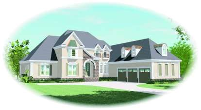3 Bed, 3 Bath, 4042 Square Foot House Plan - #053-02058