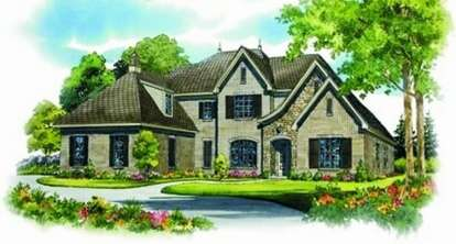 4 Bed, 4 Bath, 4871 Square Foot House Plan - #053-02064
