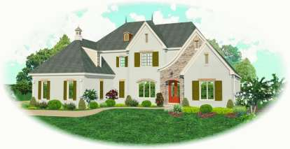 4 Bed, 4 Bath, 5214 Square Foot House Plan - #053-02066