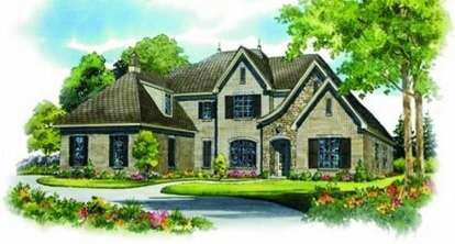 4 Bed, 4 Bath, 5214 Square Foot House Plan - #053-02067