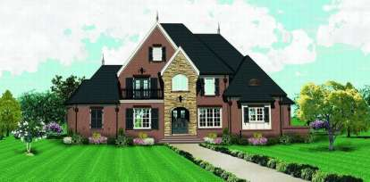 4 Bed, 4 Bath, 4571 Square Foot House Plan - #053-02073