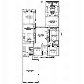 Floorplan 1 for House Plan #053-02074