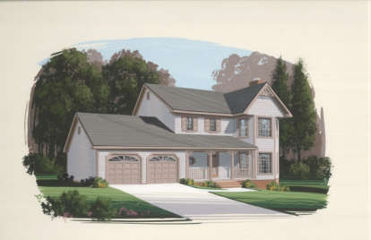 3 Bed, 2 Bath, 1598 Square Foot House Plan #036-00032