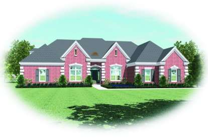 4 Bed, 4 Bath, 3452 Square Foot House Plan - #053-02101