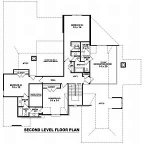 Floorplan 2 for House Plan #053-02106