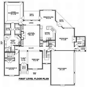 Floorplan 1 for House Plan #053-02107