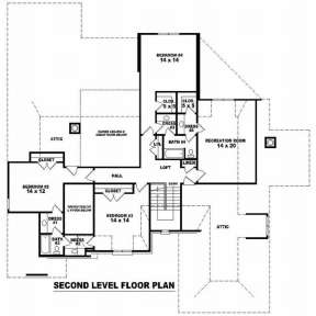 Floorplan 2 for House Plan #053-02107