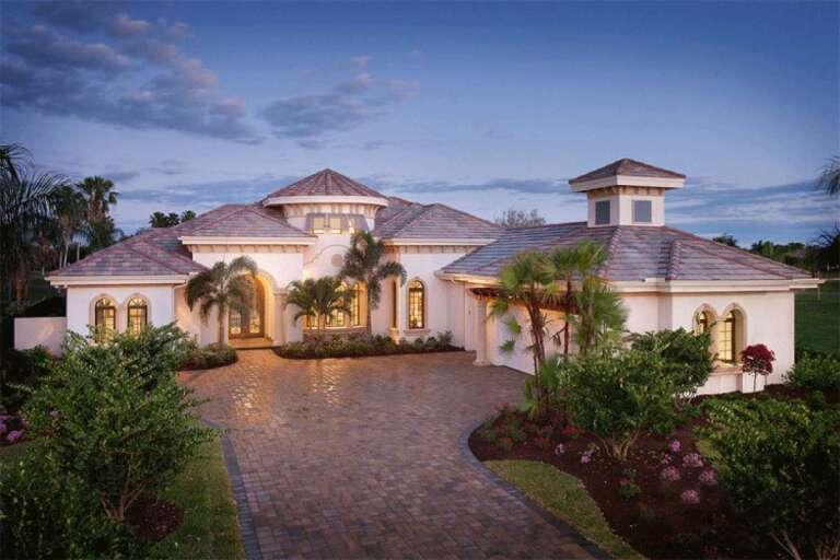 Mediterranean House Plans   Best Home & Floor Plan Designs
